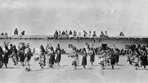 Harvest Dance with Koshare, courtesy Library of Congress