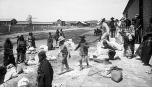 Sioux Women Receiving Rations, courtesy Denver Public Library, Colorado  Historical Society, and Denver Art Museum