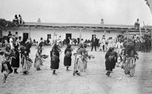 Harvest Dance, Santo Domingo Pueblo, courtesy Library of Congress