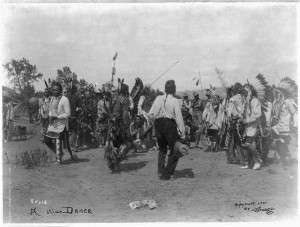 War Dance on Crow Agency, Montana courtesy Library of Congress