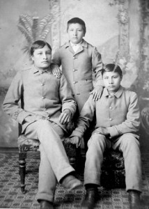 The Same Three Boys Beginning Civilized Life at Carlisle, National Anthropological Archives, Smithsonian