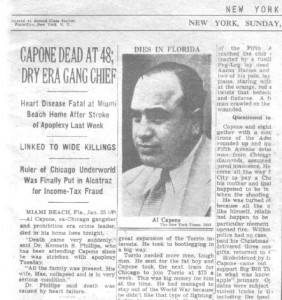 Al Capone, Suffered Syphilitic Dementia
