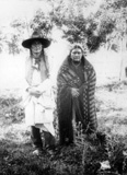 Medicine Man and Wife, 1871, courtesty Library of Congress
