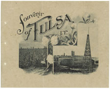 Cover of Pamphlet Souvenirs of Tulsa-Indian Territory, 1906, courtesy National Archives