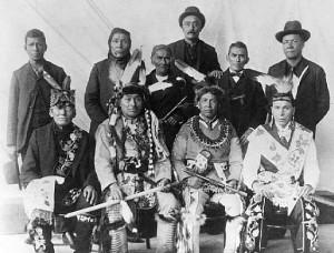 Leech Lake Chippewa Delegation to Washington, 1899