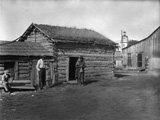 Log Cabin Belonging to Dirty John, Flathead Reservation, 1909, courtesy Library of Congress