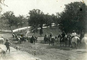 Procession at White Earth Indian Reservation, circa 1908-1916, courtesy Minnesota Historical Society