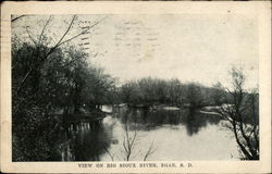 View of Big Sioux River (which flowed past the asylum) 1911