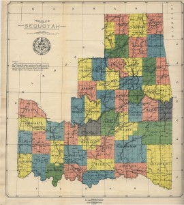 State of Sequoyah, 1905, courtesy McCasland Map Collection, Oklahoma State University