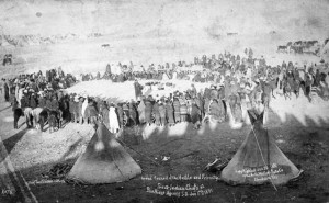Council of Indians at Pine Ridge, January 17, 1891, courtesy Library of Congress