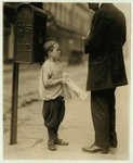 Harry Cherkos, Feeble-Minded Child, Selling Papers, 1910, courtesy Library of Congress
