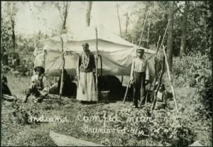 Menominee Indians Camping, circa 1917