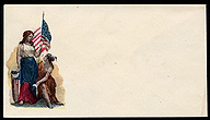 Liberty and a Native American, Civil War-era pictoral envelope, courtesy Library of Congress