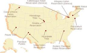 map showing cattauragus indian reservation