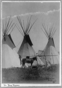 Three Teepees, courtesy of the Library of Congress