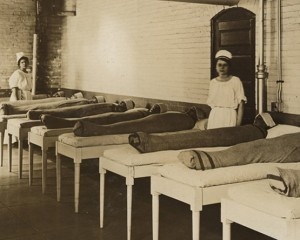 Hydrotherapy Wrapping, St. Elizabeths, courtesy National Archives