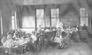 Patients Sewing at the Cherokee State Hospital for the Insane, early 1900s