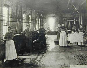 Patients Working in Laundry Room at Texas State Lunatic Asylum, 1898
