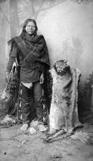 Mescalero Apache and Mountain Lion Pelt, circa 1883, courtesy Libary of Congress