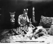 Tlingit Healer and Patient in Posed Healing Ceremony, Alaska, 1906, courtesy Library of Congress