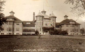 Waupaca County Asylum for the Chronic Insane, circa 1902, courtesy Wisconsin History and Genealogy website