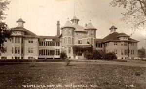 Waupaca County Asylum for the Chronic Insane, circa 1902, courtesy Wisconsin History and Genealogy website