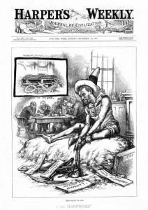 Cartoon Mocking Guiteau's Insanity Plea