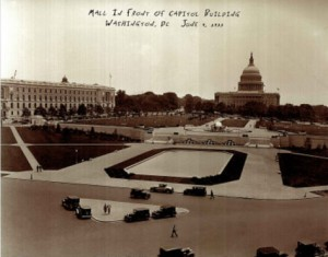 Mall and Capitol Building, 1933
