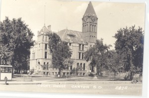Postcard, Court House in Canton, SD