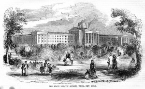 The Public Outside Unica State Lunatic Asylum