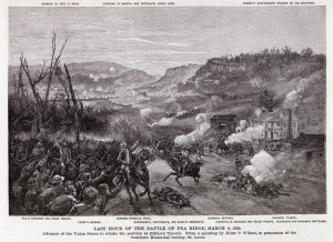 Last Hour of the Battle of Pea Ridge