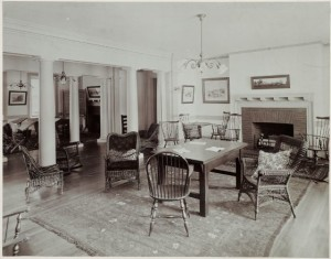 Nurses' Sitting Room, circa 1903, Medfield Insane Asylum, courtesy Harvard Art Museum