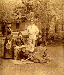 Ready for a Badminton Game, circa 1875, These People May be Visitors, Patients, or Staff