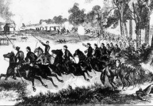 Cavalry Charge During the Battle of Honey Springs