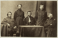 General Ulysses S. Grant and Staff, with Ely S. Parker seated at left