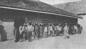 Receiving Rations at San Carlos Agency, AZ, circa 1892, courtesy National Park Service