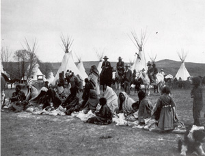 Waiting for Rations, circa 1905, couresty Wannamker Collection, Mathers Museum Indiana University
