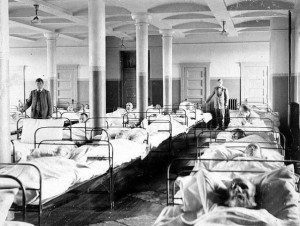 Full Men's Ward, Fergus Falls State Hospital, 1900