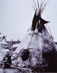 Medicine Man Outside His Tepee, 19th Century, courtesy National Institutes of Health