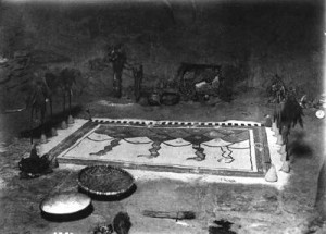 Sand Painting in Sacred Kiva, circa 1890 to 1900