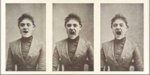 Three Photos of a Hysterical Woman Screaming, courtesy Wellcome Library