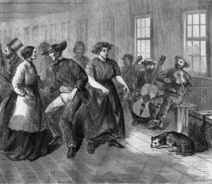 Lunatics Dancing at Blackwell's Island, New York in 1865