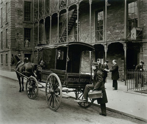 Ambulance Outside Bellevue Psychiatric Hospital, 1895