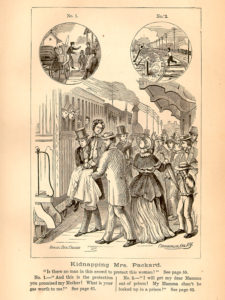 Elizabeth Packard Being Taken to an Asylum Against Her Will, courtesy National Library of Medicine