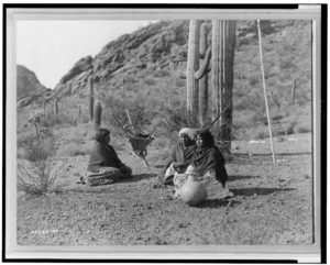 Qahatika Women Resting in Harvest Field, courtesy Library of Congress